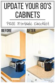 Tips For Updating Melamine Cabinets With Oak Trim The Handymans