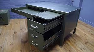 vintage steel furniture. Military Vintage Steel Industrial Metal Desk By General Fireproofing - YouTube Furniture