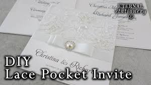 pocket wedding invites how to make a lace pocket wedding invitation diy invitations youtube