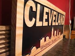 x cleveland ohio whiskey island wooden carved sign bar signs man cave city skyline pictures gifts custom wood signs wood wall art via etsy on cleveland wood wall art with 53 best gifts for him images on pinterest gifts for him baseball