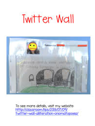 Twitter Wall Diy Pocket Chart Style By Classroom Tips Tpt