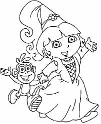 Dora Coloring Page Coloring Pages Mind Boggling The Explorer