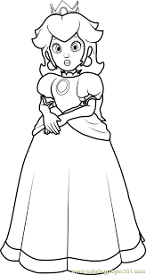Small Picture Princess Peach Coloring Page Free Super Mario Coloring Pages