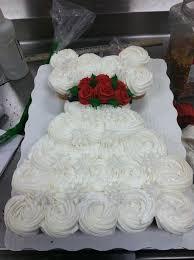 Wedding dress cupcake cake by Nichole I LOVE this