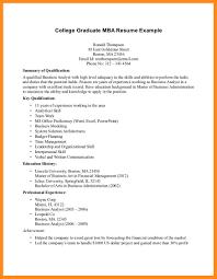11 Sample Resume For Graduating College Student Azzurra Castle