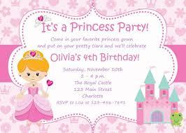 Princess Birthday Party Invitations Birthday Invitation Card