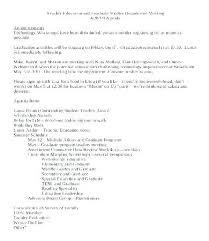 Simple Minutes Of Meeting Sample 5 Department Meeting Agenda Template Teacher Finance Sample