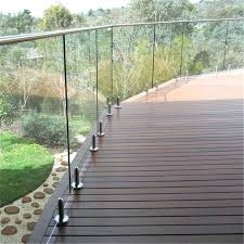 clear deck railing white 6 inch glass panel new systems seattle