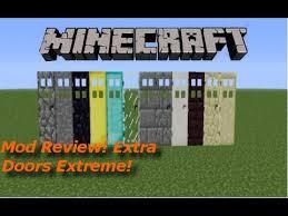 minecraft extra doors extreme mod review gold diamond glass doors