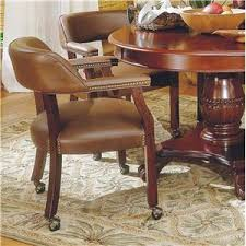 casual dining chairs with casters: steve silver tournament tournament arm chair with casters