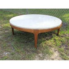 contemporary round coffee table danish modern round stone top coffee table by lane for idea 1