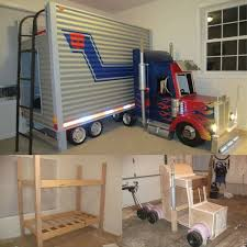 Impressive Cool Loft Beds For Kids Truck Bunk E And Simple Ideas