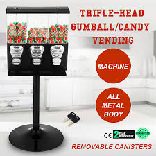 3 Head Candy Vending Machine Best ONE NEW TRIO 48Head Candy Gumball Vending Machine 48 Cent Gumball