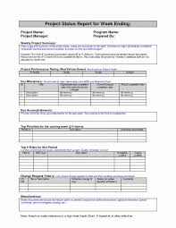 Daily Note Template Classy Project Manager Status Report Template Awesome Daily Status Report