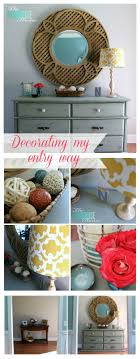 Round Entry Way Table Decorating My Entry Way New Pottery Barn Mirror The Turquoise Home