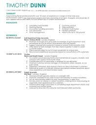 Retail Resume Template Enchanting Retail CV Templates CV Samples Examples
