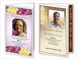 Template Free Funeral Program Template Microsoft Publisher