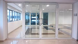 monumental glass door building glass door