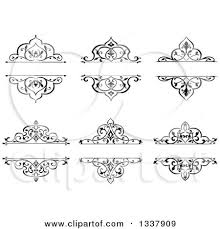black vintage frame design. Clipart Of Black And White Ornate Vintage Floral Frame Design Elements With Text Space - Royalty Free Vector Illustration By Tradition SM