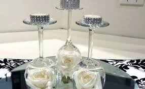 wine glass centerpieces large wedding for