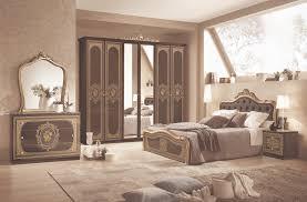 Schlafzimmer Alice 6 Teilig In Schwarz Gold Barock Mit Polsterung