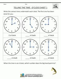 Telling Time Worksheets Oclock And Half Past Maths Printable Math ...