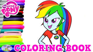 my little pony coloring book rainbow dash everfree episode surprise egg and toy collector setc you
