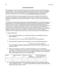 Survey Test Book Answers Appendix D Sample Questionnaires Assessing Research Doctorate
