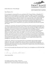 letter of recommendation vanessa r morton r n