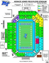 Mtsu Floyd Stadium Seating Chart Middle Tennessee Blue Raiders 2003 Football Schedule