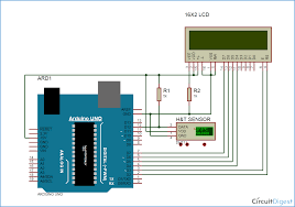 arduino based humidity and temperature measurement using dht11 sensor arduino humidity sensor circuit diagram