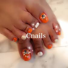 夏海リゾートフットシンプル Cnailsのネイルデザインno3339549