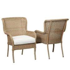 lemon grove custom stationary wicker outdoor dining chair 2 pack with cushions included