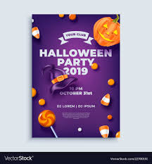 Halloween Dance Flyer Templates Halloween Party Layout Poster Or Flyer Template