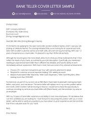 Cover Letter For A Teller Job Bank Teller Cover Letter Example Resume Genius