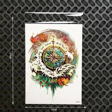 Henna Wall Designs Henna Compass Designs Waterproof Temporary Tattoo Sticker