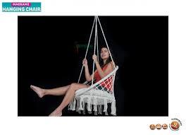 macrame hanging hammock chair mhc0050 03