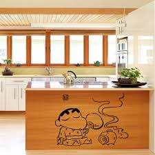 Mural Tiles For Kitchen Decor Creative Cartoon Kitchen Art Mural Poster Decor Tile Cabinet 57