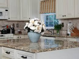 completed granite island countertop