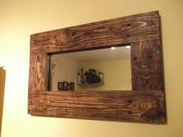 home design rustic wood mirror minus style lighting location fits several themes beachy modern etc k rustic wood mirror frame n88 rustic