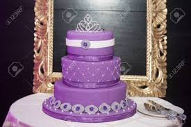 Sweet Sixteen Birthday Cake On A Cake Stand For A Young Girls