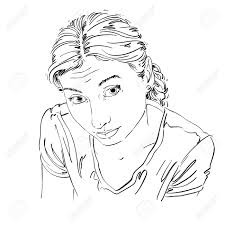 イラストベクトルポーズ女性女性女性女の子若い若い女性