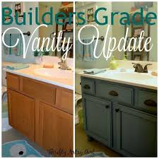 Builders Grade Teal Bathroom Vanity Upgrade For Only 40 In 40 Amazing Refinishing Bathroom Vanity
