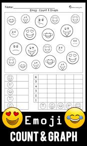 Emoji Count & Graph Worksheet   Printable maths worksheets, Emoji ...