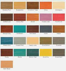 Wood Stain Colors Home Depot Cabot Wood Stain Color Chart