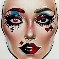 Paper Picture Simple Face Painting In 2019 Makeup Face