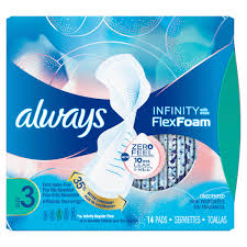 Sanitary Pad Size Chart Always Infinity Size 3 Extra Heavy Pads With Wings Always