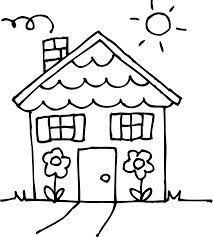 Free Printable House Coloring Pages For Kids Dog In Page - andyshi.me