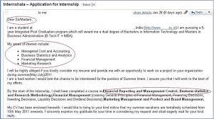 Internship Application Letter India Summer Internship Cover Letter 7 Internshala Blog