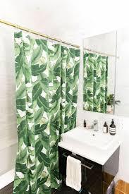 Brown Fabric Shower Curtains White Bathtub Steel Ring Hooks ...